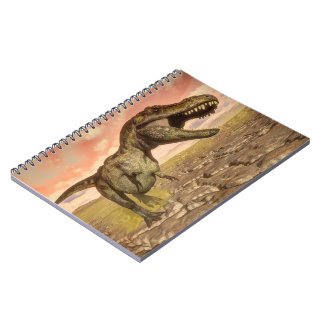 Cuaderno Dinosaurio del rex del Tyrannosaurus que ruge