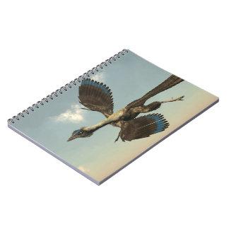 Cuaderno Dinosaurios de los pájaros del Archaeopteryx que