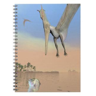 Cuaderno Dinosaurios de Pteranodon que pescan - 3D rinden