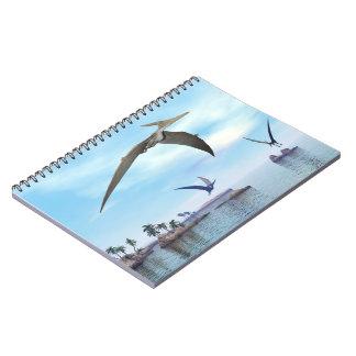 Cuaderno Dinosaurios de Pteranodon que vuelan - 3D rinden