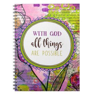 Cuaderno dios 986.with todas las cosas es posible