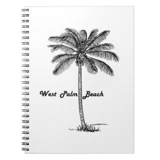Cuaderno Diseño blanco y negro de West Palm Beach y de la