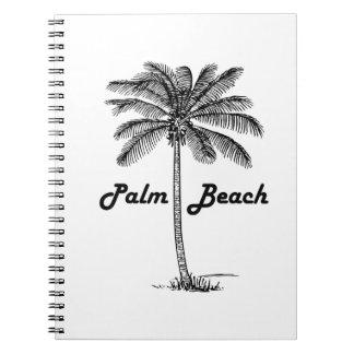 Cuaderno Diseño blanco y negro del Palm Beach la Florida y