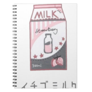 Cuaderno Diseño de Harajuku de la leche de la fresa