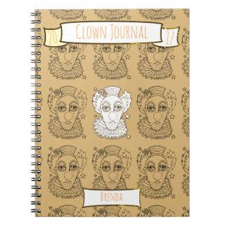 Cuaderno Diseño de Lineart del payaso