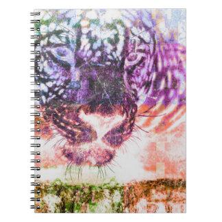 Cuaderno Diseño del gato de Jaguar del arco iris