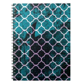 Cuaderno Diseño marroquí azul del Grunge