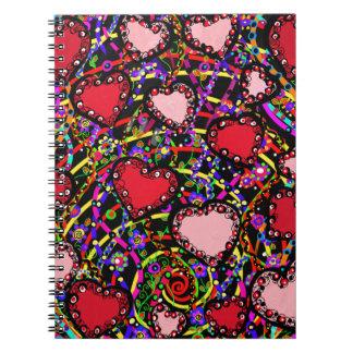 Cuaderno Diseños del corazón de la tarjeta del día de San