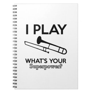 Cuaderno diseños del trombone