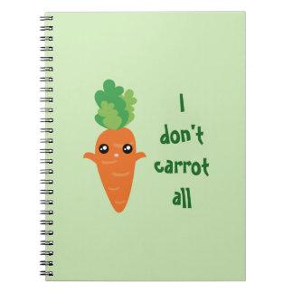 Cuaderno Divertido no hago zanahoria todo el dibujo animado