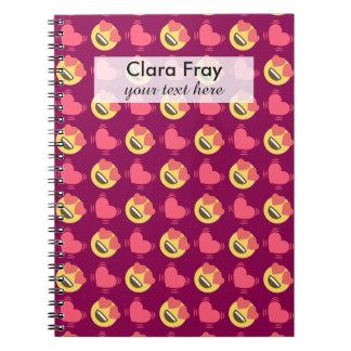 Cuaderno Dulce lindo en el amor Emoji, modelo de los