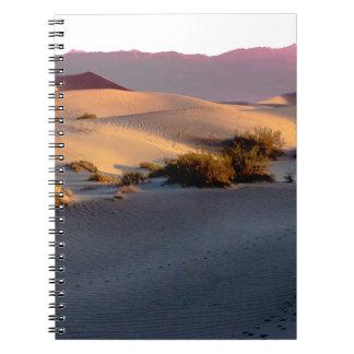 Cuaderno Dunas de arena planas del Mesquite Death Valley