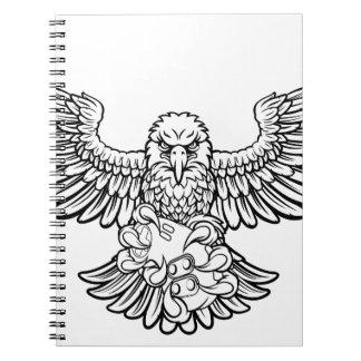 Cuaderno Eagle Esports se divierte la mascota del