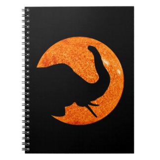 Cuaderno Eclipse solar del perfil del elefante