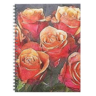 Cuaderno Ejemplo de los rosas rojos