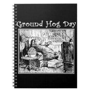 Cuaderno Ejemplo del blanco del negro del día de la marmota