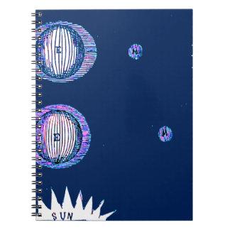 Cuaderno Ejemplo del espacio exterior de Sun y de la luna