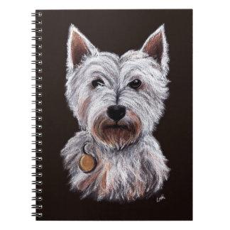 Cuaderno Ejemplo en colores pastel del mascota de la