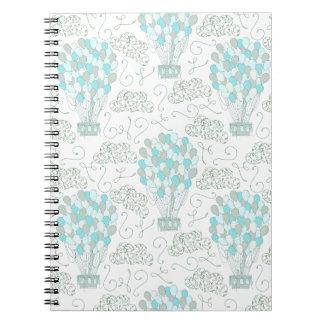 Cuaderno El aire caliente hincha la decoración del cuarto