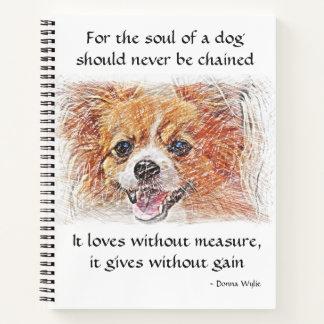 Cuaderno El alma de un perro - chihuahua