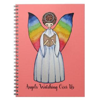 Cuaderno El ángel de la acuarela con el arco iris se va