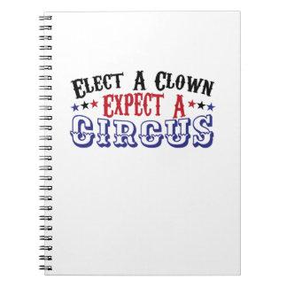 Cuaderno El Anti-Triunfo divertido elige a un payaso -