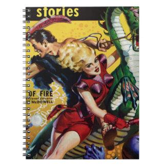 Cuaderno El Blonde heroico monta un dinosaurio