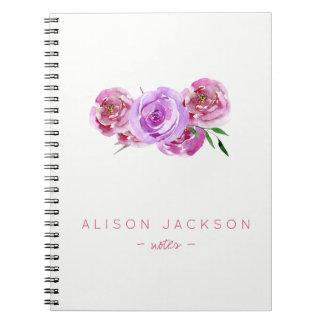 Cuaderno El color de malva simple del ramo floral de la