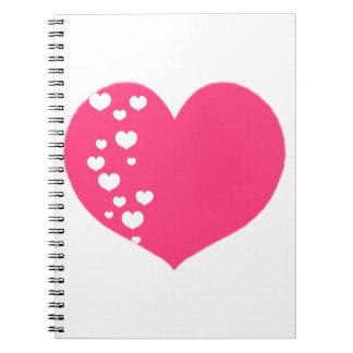 Cuaderno El corazón sigue blanco rosado