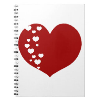 Cuaderno El corazón sigue claro rojo