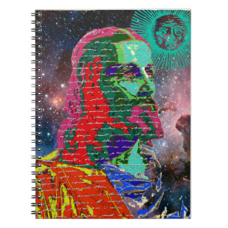 Cuaderno El cosmos de la galaxia del espacio exterior del