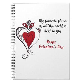 Cuaderno El día de San Valentín feliz