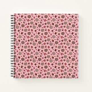 Cuaderno El dulce rosado de la tarjeta del día de San