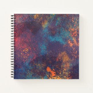 Cuaderno El Grunge colorido artístico mancha Guestbook