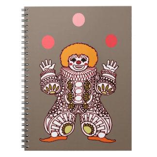 Cuaderno El hacer juegos malabares del payaso