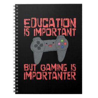 Cuaderno El juego es Importanter que la educación -