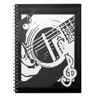Cuaderno El jugar de la guitarra del amante de la música