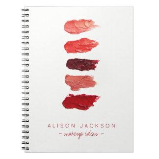 Cuaderno El lápiz labial minimalista simple colorea las