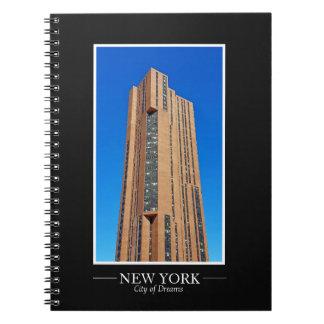 Cuaderno El marco de la fotografía del horizonte de Nueva