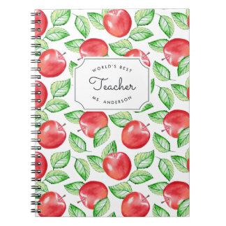 Cuaderno El mejor profesor Apple personalizado el | del