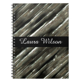 Cuaderno El metal bloquea el centro negro adaptable