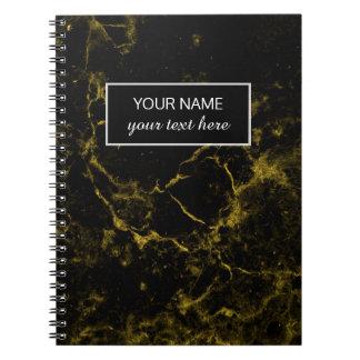 Cuaderno el negro elegante moderno elegante elegante y el