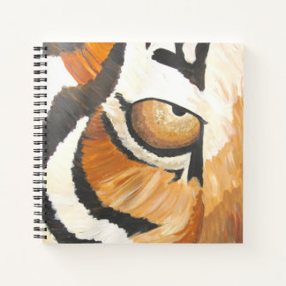 Cuaderno El ojo del tigre (arte de Kimberly Turnbull)