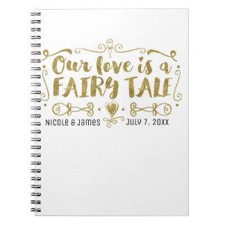 Cuaderno El oro NUESTRO AMOR ES un Guestbook del boda del