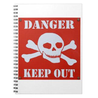 Cuaderno El peligro guarda hacia fuera