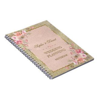 Cuaderno El purpurina atractivo del oro se ruboriza
