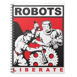 Cuaderno El robot le fija libre