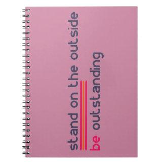 Cuaderno El soporte en el exterior sea excepcional