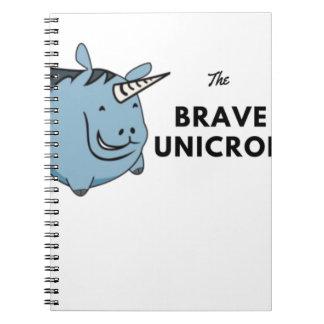 Cuaderno El unicornio valiente lo más tarde posible