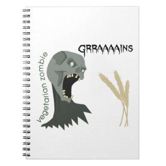 Cuaderno ¡El zombi vegetariano quiere Graaaains!